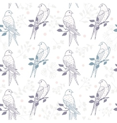 swallows seamless pattern vector image vector image