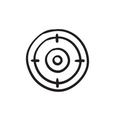 Target board sketch icon vector
