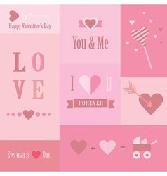 Valentines day design element vector image vector image
