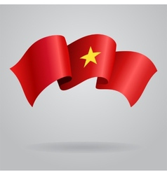 Vietnamese waving Flag vector image