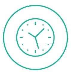 Wall clock line icon vector image