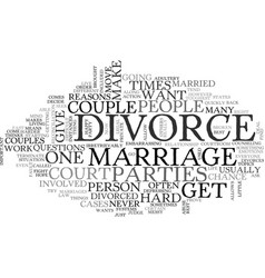 what is a divorce text word cloud concept vector image vector image