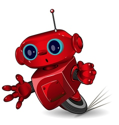 Red robot speed in a bend vector