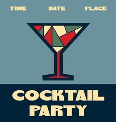 Coctail party poster1 vector image