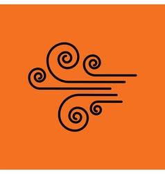 Wind icon vector image