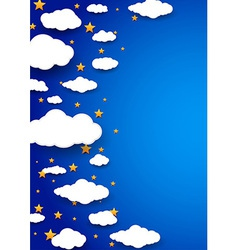 Night peaceful sky - abstract background vector