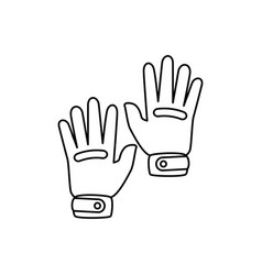 Golf gloves isolated icon vector