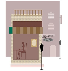 Cafe street view vector