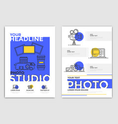 Brochure design template - photography vector
