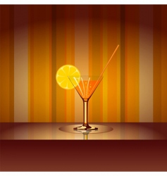 cocktail with background vector image