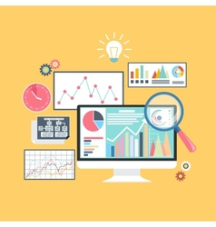 Stock exchange rates on monitors vector image