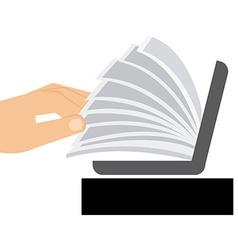 Electronic book vector