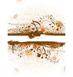 Music grunge background vector image