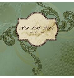 Victorian vintage label vector