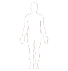 Man body outline vector