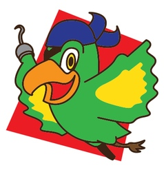 Pirate Bird Fly vector image