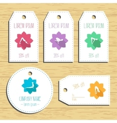 Yoga discount gift tags ready to use flat design vector