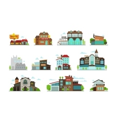 Hotel guest house hostel set of different vector