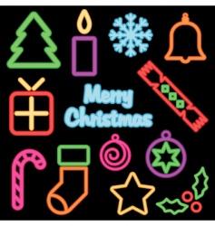 neon Christmas vector image