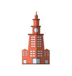 building contemporary city shadow vector image