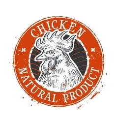 Chicken logo design template rooster or vector