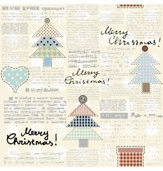 Christmas newspaper background vector
