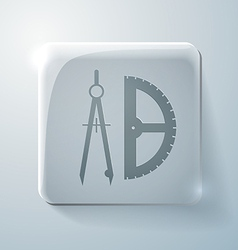 Compass and protractor vector