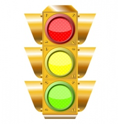Cross road traffic lights vector