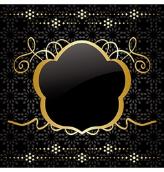 decorative background with gold decorations vector image