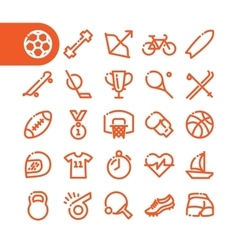 Fat Line Icons vector image
