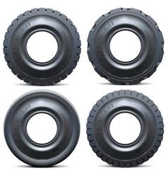 Forklift tractor tire vector