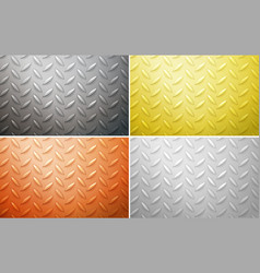 four different background designs in four colors vector image