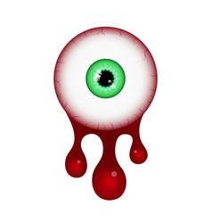 halloween blood eyeball vector image