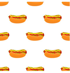 hot dog seamless patterncartoon flat style vector image