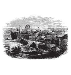 Jerusalem cityscape vintage vector