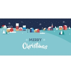 Merry Christmas greeting card poster and banner vector image