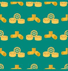 pasta whole wheat seamless pattern corn rice vector image