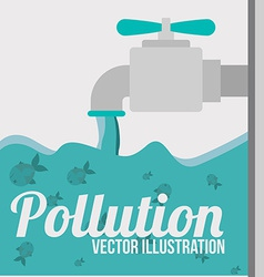 Pollution design over white background vector