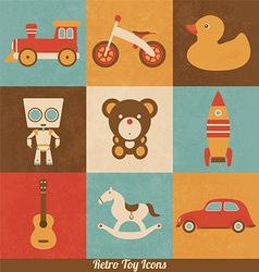 Retro Toy Icons vector image vector image