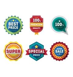 Sale labels and ribbons set design elements vector