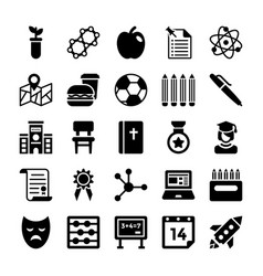 School and education icons 5 vector