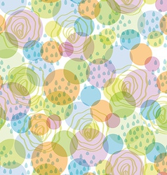 Seamless pattern abstract background with circles vector