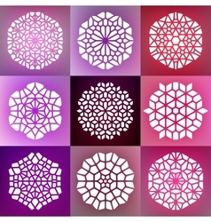 Set of nine decorative mandala ornaments vector