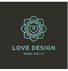 Sign of love on wedding agency quality flat trend vector