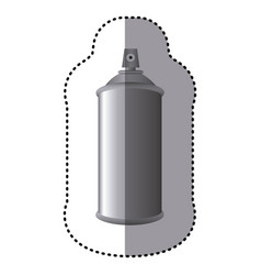 Sticker gray aerosol spray metal 3d bottle can vector