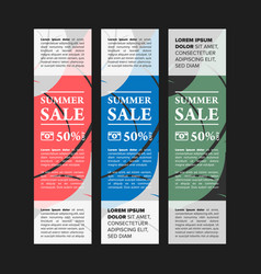 Summer sale banners set vector