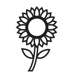 Thin line sun flower icon vector