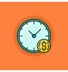 Time is money flat icon vector