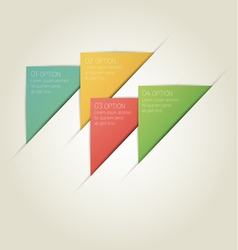 Triangle Infographic Background with Sample Text vector image vector image