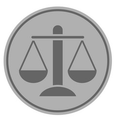 weight scales silver coin vector image